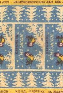 Обвертки конфет Советского Союза