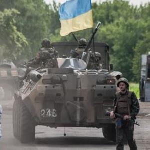 Украинские военные в Дружковке
