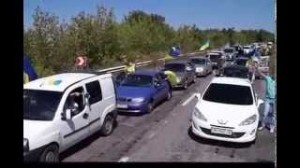 Патриотический автопробег в Дружковке