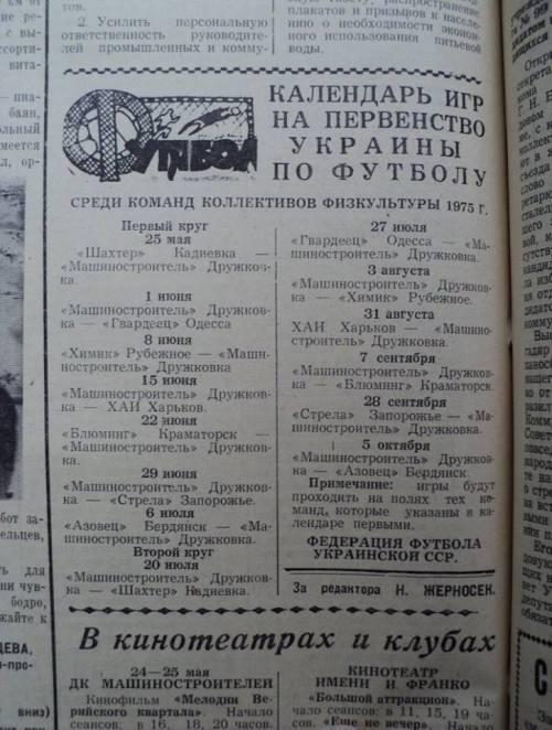 Календарь футбольного первенства в Украине