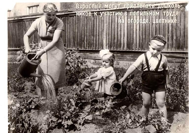 Открытки - Привлечение детей к посильному труду